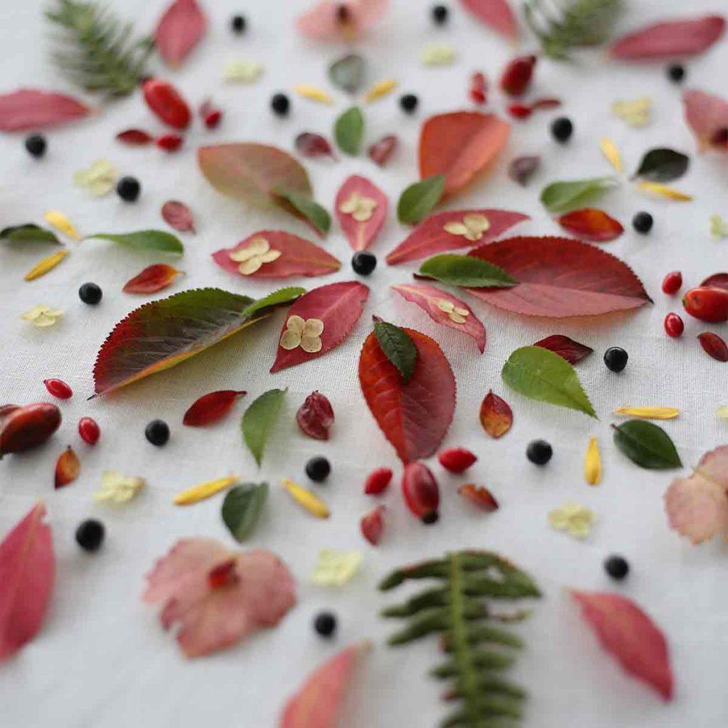 Svävande blomstermandala
